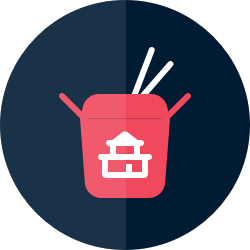 Icon: Takeout container with chopsticks